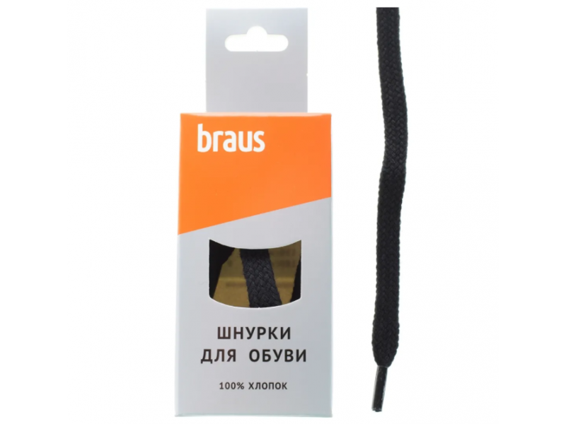 BRAUS Шнурки плоские 100см. арт.4107