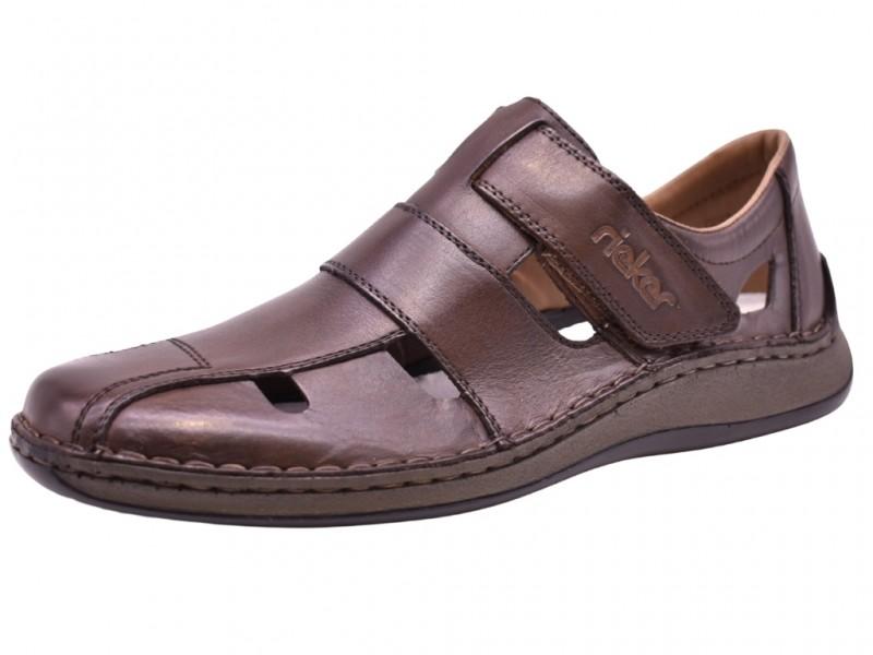 Туфли летние Rieker арт. 3489 коричневые