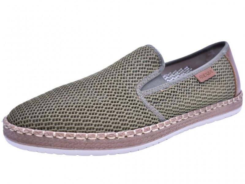 Туфли летние Rieker арт. 3491 зеленые