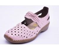 Туфли летниe Rieker арт. 2489 розовые