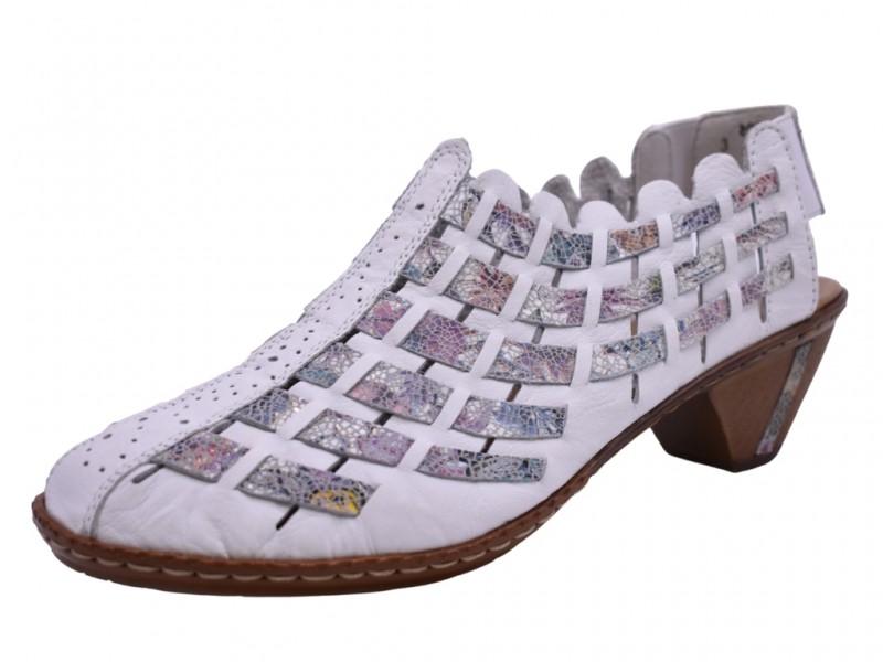 Туфли летние Rieker арт. 3490 белые