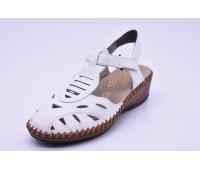 Туфли летние Rieker арт. 2782 белые